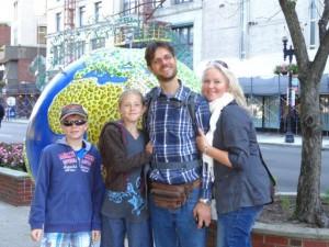 Meine Cousine Heidi war mit dabei, somit gab es ein paar Fotos wo wir alle drauf sind.