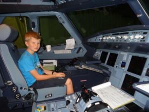 Im Cockpit zum zweiten Mal...