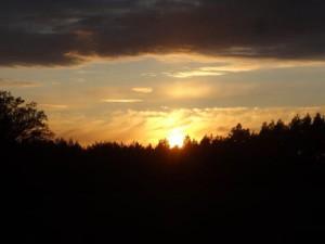 Sonnenuntergang bei der Arche...