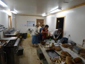 In der Küche was ständig betrieb...