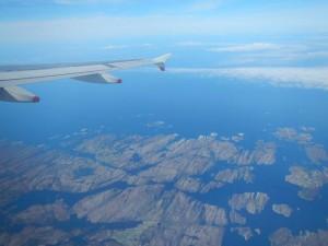 Abflug von Bergen...