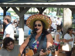 Dazu gabs auch noch Countrymusic... es war mexican Thema des Markttages!